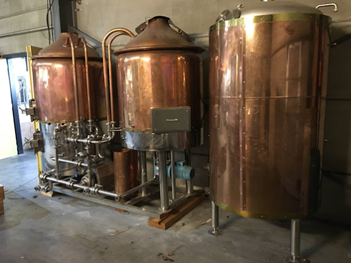 Decorative Copper-cladded brewhouse