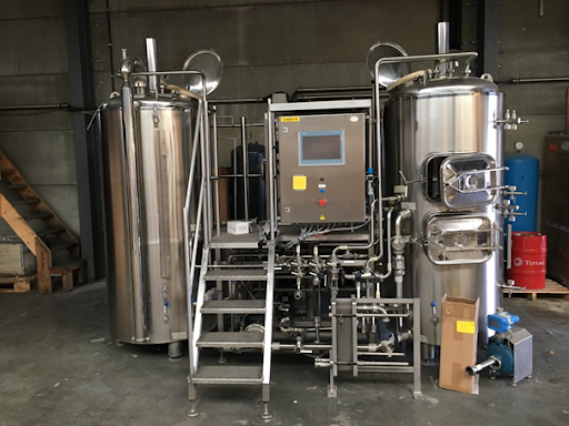 Second hand stainless steel brewhouse 250l
